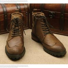 รองเท้าบู๊ทผู้ชาย หุ้มข้อหนังแท้แฟชั่นเกาหลีมาร์ตินวินเทจ นำเข้า ไซส์38ถึง44 สีน้ำตาล - พรีออเดอร์MA5607 ราคา3500บาท