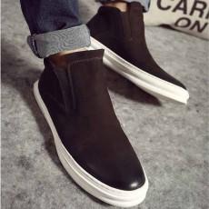 รองเท้าผู้ชาย หุ้มข้อหนังแท้แฟชั่นเกาหลีสวมลำลองเทรนด์ใหม่ นำเข้า ไซส์38ถึง43 สีน้ำตาล - พรีออเดอร์MA5609 ราคา3700บาท