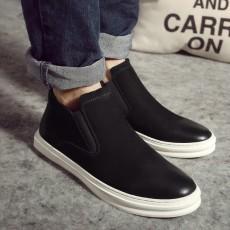 รองเท้าผู้ชาย หุ้มข้อหนังแท้แฟชั่นเกาหลีสวมลำลองเทรนด์ใหม่ นำเข้า ไซส์38ถึง43 สีดำ - พรีออเดอร์MA5609 ราคา3700บาท