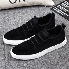 รองเท้าผู้ชาย หนังกลับแฟชั่นเกาหลีสวมลำลองSNEAKERเทรนด์ใหม่ นำเข้า ไซส์39ถึง43 สีดำ - พรีออเดอร์MA5610 ราคา2500บาท
