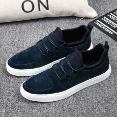 รองเท้าผู้ชาย หนังกลับแฟชั่นเกาหลีสวมลำลองSNEAKERเทรนด์ใหม่ นำเข้า ไซส์39ถึง43 สีน้ำเงิน - พรีออเดอร์MA5610 ราคา2500บาท