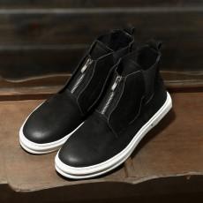 รองเท้าบู๊ทผู้ชาย หุ้มข้อหนังแท้แฟชั่นเกาหลีมาร์ตินมีซิปเท่ใหม่ นำเข้า ไซส์38ถึง44 สีดำ - พรีออเดอร์MA5611 ราคา3700บาท