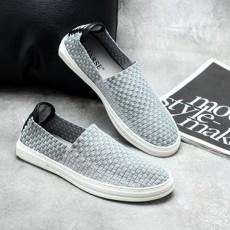 รองเท้าผ้าใบลายสาน แฟชั่นเกาหลีผู้ชายสวมLOAFERSเทรนด์ใหม่ นำเข้า ไซส์39ถึง44 สีเทา - พรีออเดอร์MA5612 ราคา3000บาท