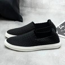 รองเท้าผ้าใบลายสาน แฟชั่นเกาหลีผู้ชายสวมLOAFERSเทรนด์ใหม่ นำเข้า ไซส์39ถึง44 สีดำ - พรีออเดอร์MA5612 ราคา3000บาท