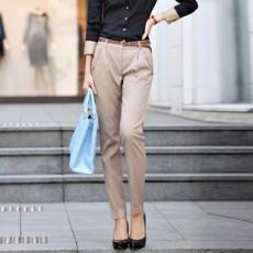 กางเกง ทำงาน แฟชั่นเกาหลี ฟอร์มพนักงาน นำเข้า ไซส์S/M/L/XL/XXL สีกากี - พรีออเดอร์MI533
