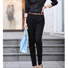 กางเกง ทำงาน แฟชั่นเกาหลี ฟอร์มพนักงาน นำเข้า ไซส์S/M/L/XL/XXL สีดำ - พรีออเดอร์MI533