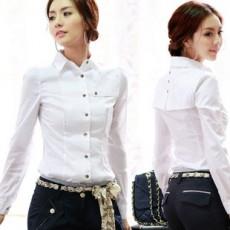 เสื้อเชิ้ต ทำงาน แฟชั่นเกาหลี ใหม่สวยแขนยาวฟอร์มหรูหรา นำเข้า ไซส์S/M/L/XL สีขาว - พรีออเดอร์MI535 ราคา1200บาท