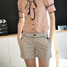 กางเกง ขาสั้น แฟชั่นเกาหลี แนวหรูหราผ้าดีมาก นำเข้า ไซส์S/M/L/XL สีกากี - พรีออเดอร์MI550 ราคา1850บาท