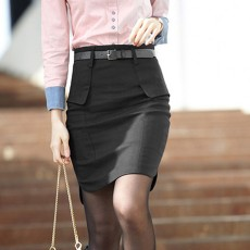 กระโปรงสั้น ทำงาน แฟชั่นเกาหลีฟอร์มพนักงานออฟฟิต นำเข้า ไซส์S/M/L/XL สีดำ - พรีออเดอร์MI590 ราคา1990บาท