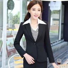 เสื้อสูท แฟชั่นเกาหลียูนิฟอร์มชุดพนักงาน นำเข้าไซส์Sถึง3XL สีดำ - พรีออเดอร์MS4003 ราคา1800บาท