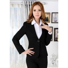 เสื้อสูทสตรี แฟชั่นเกาหลีแขนยาว Suit Blazer Uniform นำเข้าไซส์Sถึง3XLสีดำ - พรีออเดอร์MS4008 ราคา1800บาท