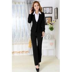 ชุดสูทกางเกง แฟชั่นเกาหลีเสื้อสูท+กางเกง Uniform นำเข้าไซส์Sถึง3XLสีดำ - พรีออเดอร์MS4008 ราคา2900บาท