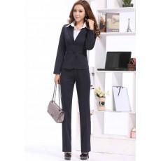 ชุดสูทกางเกง แฟชั่นเกาหลีเสื้อสูท+กางเกงแบบกระดุม2เม็ด นำเข้าไซส์Sถึง3XL - พรีออเดอร์MS4011 ราคา2900บาท