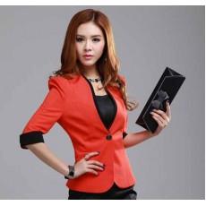 เสื้อสูท แฟชั่นเกาหลีสวยหรูแบบใหม่ทันสมัย นำเข้าไซส์Sถึง3XLสีส้ม - พรีออเดอร์MS4019 ราคา1490บาท