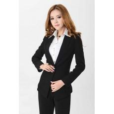 เสื้อสูท แฟชั่นเกาหลีตัวยาวดีไซน์สวยทันสมัย นำเข้าไซส์Sถึง3XL สีดำ - พรีออเดอร์MS4030 ราคา1600บาท