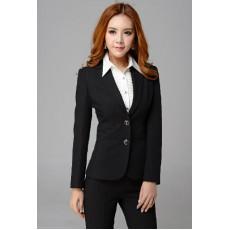เสื้อสูท แฟชั่นเกาหลีสาวออฟฟิสสวยทันสมัย นำเข้าไซส์Sถึง3XL สีดำ - พรีออเดอร์MS4031 ราคา1550บาท