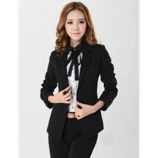 เสื้อสูท แฟชั่นเกาหลีผู้หญิงทำงานสวย นำเข้าไซส์Sถึง3XLสีดำ - พรีออเดอร์MS4033 ราคา1550บาท