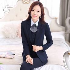 เสื้อสูทผู้หญิง แฟชั่นเกาหลีแขนยาวพนักงานออฟฟิศหญิงเรียบหรู นำเข้าไซส์Sถึง3XL สีน้ำเงิน - พรีออเดอร์MS4246 ราคา1950บาท