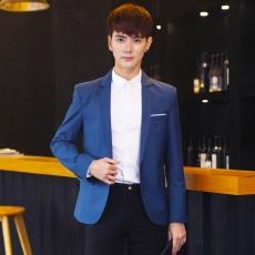 เสื้อสูทผู้ชาย แฟชั่นเกาหลีกระดุม1เม็ดใส่ทำงานออกงานแต่งงาน นำเข้า Mถึง3XL สีน้ำเงิน - พรีออเดอร์MS4251  ราคา1990บาท