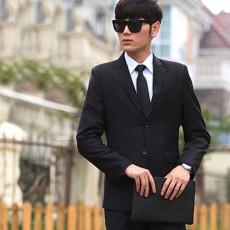 เสื้อสูทผู้ชาย แฟชั่นเกาหลีกระดุม2เม็ดใส่ทำงานออกงานแต่งงาน นำเข้า Mถึง3XL สีดำ - พรีออเดอร์MS4252  ราคา1995บาท