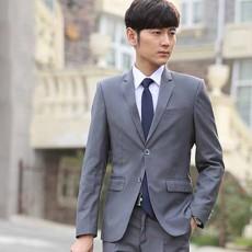 เสื้อสูทผู้ชาย แฟชั่นเกาหลีกระดุม2เม็ดใส่ทำงานออกงานแต่งงาน นำเข้า Mถึง3XL สีเทา - พรีออเดอร์MS4252  ราคา1995บาท
