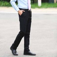 กางเกงทำงานผู้ชาย แฟชั่นเกาหลีสแลคใส่ทำงานขายาวทรงสวย นำเข้า เอว28ถึง39 สีดำ - พรีออเดอร์MS4254  ราคา1700บาท
