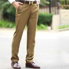 กางเกงทำงานผู้ชาย แฟชั่นเกาหลีสแลคใส่ทำงานขายาวทรงสวย นำเข้า เอว28ถึง39 สีกากี - พรีออเดอร์MS4254  ราคา1700บาท