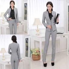 กางเกงขายาว แฟชั่นเกาหลีใส่ทำงานทรงสวย นำเข้า สีเทา เอว28สะโพก36นิ้ว - พร้อมส่งMS4262 ราคา850บาท