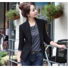 เสื้อสูท แฟชั่นเกาหลีผู้หญิงแขนยาวทรงสวยใหม่ นำเข้า สีดำ ไซส์Mถึง3XL - พร้อมส่งTJ7141 ราคา1100บาท