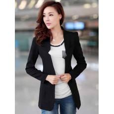 เสื้อสูท แฟชั่นเกาหลีผู้หญิงแขนยาวทรงสวยใหม่ นำเข้า สีดำ ไซส์MถึงL - พร้อมส่งTJ7149 ราคา1250บาท
