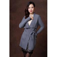 เสื้อโค้ท แฟชั่นเกาหลีแบบเสื้อคลุมแจ็คเก็ตตัวหลวมสวยหรู นำเข้า สีเทา - พร้อมส่งTJ7204 ราคา1350บาท