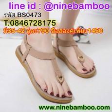 รองเท้าแตะหนีบรัดส้นสไตล์ส้นแบนสำหรับผู้หญิงใหม่เทรนด์แฟชั่นเกาหลี ไซส์35-42 นำเข้า พรีออเดอร์BS0473