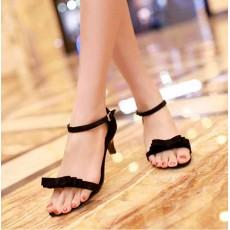 รองเท้าส้นสูง แฟชั่นเกาหลีส้นแหลม นำเข้า ไซส์34ถึง43 สีดำ - พรีออเดอร์RB2000 ราคา1250บาท