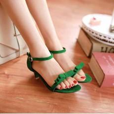 รองเท้าส้นสูง แฟชั่นเกาหลีส้นแหลม นำเข้า ไซส์34ถึง43 สีเขียว - พรีออเดอร์RB2000 ราคา1250บาท
