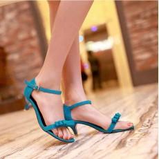 รองเท้าส้นสูง แฟชั่นเกาหลีส้นแหลม นำเข้า ไซส์34ถึง43 สีฟ้า - พรีออเดอร์RB2000 ราคา1250บาท