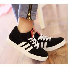 รองเท้าผ้าใบ แฟชั่นเกาหลีสวมใส่สบาย นำเข้า ไซส์36ถึง43 สีดำ - พรีออเดอร์RB2005 ราคา1350บาท