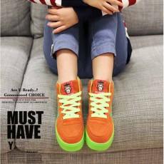 รองเท้าผ้าใบ แฟชั่นเกาหลีสวมใส่สบาย นำเข้า ไซส์36ถึง43 สีส้ม - พรีออเดอร์RB2005 ราคา1350บาท