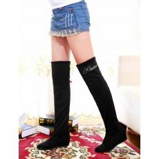 รองเท้าบูท แฟชั่นเกาหลีสวมใส่สบาย นำเข้า ไซส์34ถึง43 สีดำ - พรีออเดอร์RB2006 ราคา1650บาท