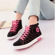 รองเท้าผ้าใบ แฟชั่นเกาหลีหุ้มข้อสไตล์แบรนด์ นำเข้า ไซส์36ถึง40 สีดำ - พรีออเดอร์RB2008 ราคา1350บาท