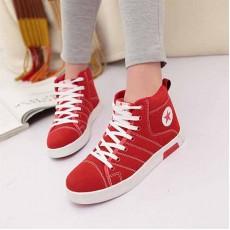 รองเท้าผ้าใบ แฟชั่นเกาหลีหุ้มข้อสไตล์แบรนด์ นำเข้า ไซส์36ถึง40 สีแดง - พรีออเดอร์RB2008 ราคา1350บาท