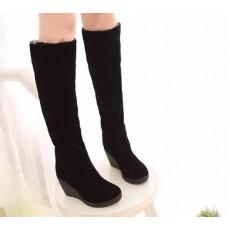 รองเท้าบูท แฟชั่นเกาหลีบุขนเฟอร์กันหนาว นำเข้า ไซส์34ถึง39 สีดำ - พรีออเดอร์RB2010 ราคา1650บาท