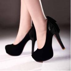 รองเท้าส้นสูง แฟชั่นเกาหลีใส่ออกงานสวย นำเข้า ไซส์34ถึง39 สีดำ - พรีออเดอร์RB2014 ราคา1550บาท