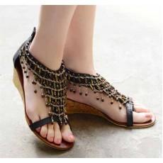 รองเท้าส้นเตี้ย แฟชั่นเกาหลีแบบใหม่หรูหรา นำเข้า ไซส์34ถึง41 สีดำ - พรีออเดอร์RB2015 ราคา1350บาท