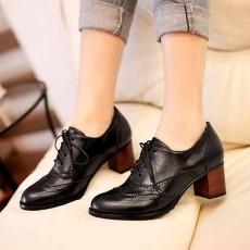 รองเท้าผ้าใบ แฟชั่นเกาหลีคัทชูหนังสวย นำเข้า ไซส์34ถึง43 สีดำ - พรีออเดอร์RB2026 ราคา1550บาท