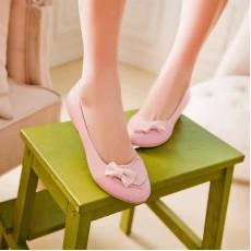 รองเท้าส้นเตี้ย แฟชั่นเกาหลีสวมใส่เดินสบาย นำเข้า ไซส์34ถึง43 สีชมพู - พรีออเดอร์RB2041 ราคา1450บาท