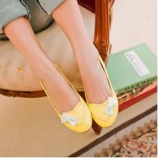 รองเท้าส้นเตี้ย แฟชั่นเกาหลีสวมใส่เดินสบาย นำเข้า ไซส์34ถึง43 สีเหลือง - พรีออเดอร์RB2041 ราคา1450บาท