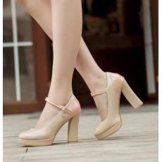รองเท้าส้นสูง แฟชั่นเกาหลีสวยหรูลุคหวาน นำเข้าไซส์34ถึง43 สีเบจ - พรีออเดอร์RB2044 ราคา1540บาท