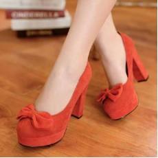 รองเท้าส้นสูง แฟชั่นเกาหลีใส่ติดต่อราชการ นำเข้าไซส์34ถึง39 สีส้ม - พรีออเดอร์RB2045 ราคา1550บาท