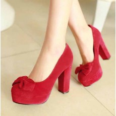 รองเท้าส้นสูง แฟชั่นเกาหลีใส่ติดต่อราชการ นำเข้าไซส์34ถึง39 สีแดง - พรีออเดอร์RB2045 ราคา1250บาท