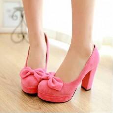 รองเท้าส้นสูง แฟชั่นเกาหลีใส่ติดต่อราชการ นำเข้าไซส์34ถึง39 สีชมพู - พรีออเดอร์RB2045 ราคา1550บาท